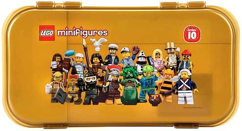Minifigure Series 10 Gold Storage Case