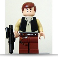 Star Wars Han Solo Minifigure With Blaster