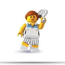 Minifigures Series 3 Female Tennis